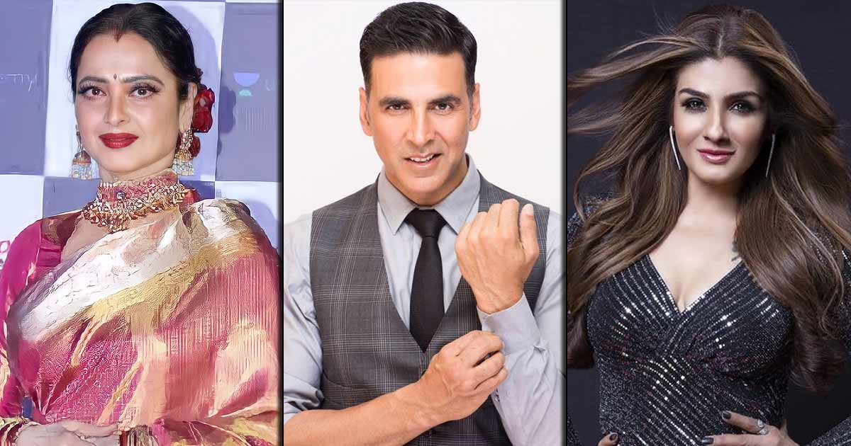 When Raveena Tandon Was Miffed With Rekha For Getting Close To Her Then-Boyfriend Akshay Kumar