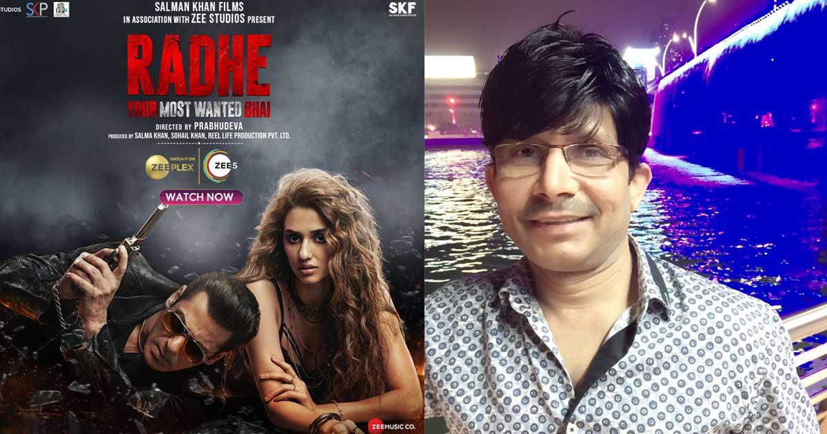 KRK Says Zee Lost 95 Crores Because Of Salman Khan's Radhe; Credits Himself!