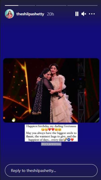 Shilpa Shetty wishes Geeta Maa on her birthday
