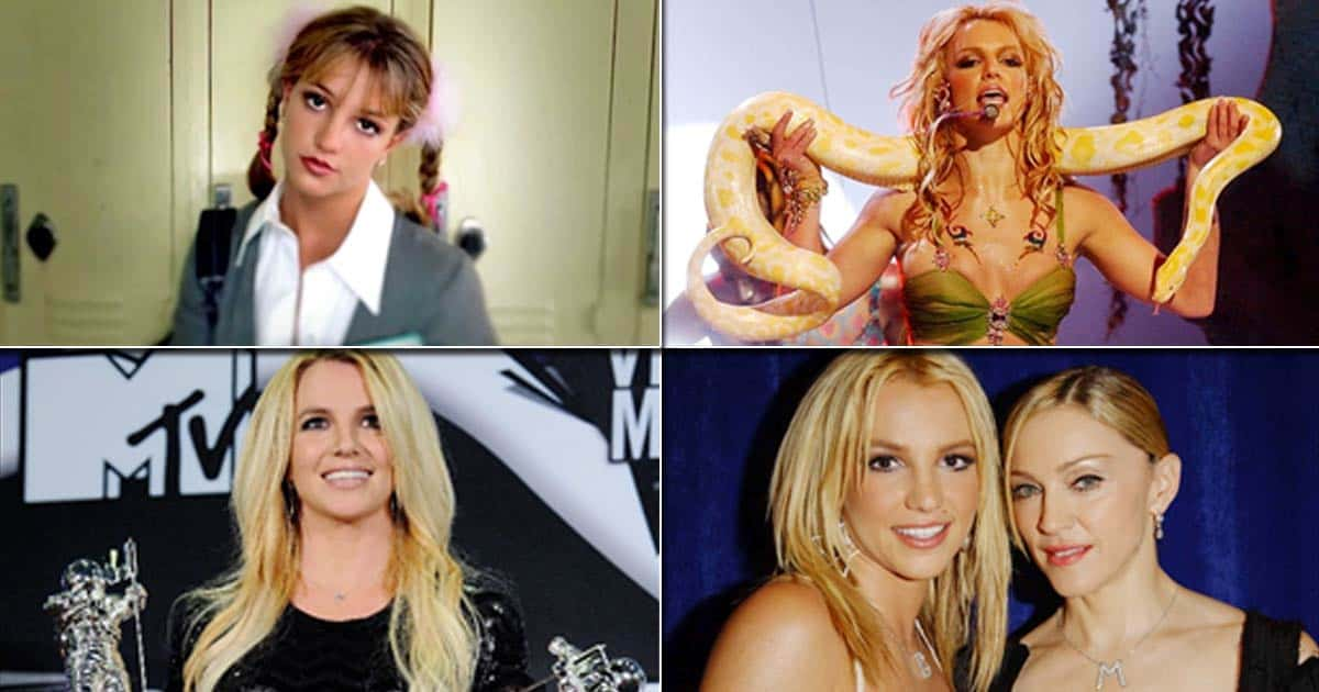 Britney Spears kisses Madonna dancing directly with a snake – Moments of B moments that defined pop culture for a generation