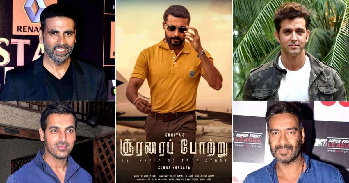 Ajay Devgn, Hrithik Roshan, John Abraham & Akshay Kumar Top Contenders For Suriya's Soorarai Pottru's Hindi Remake?