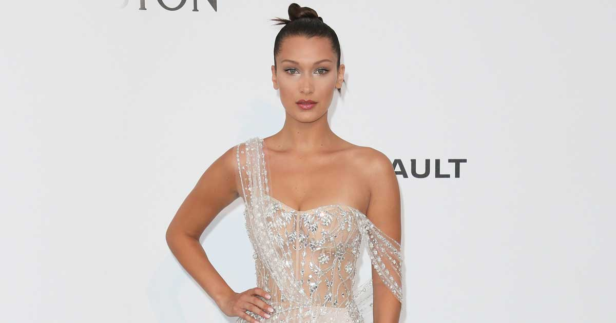 Bella Hadid's Bare Breasts Covered By A Stunning Golden Lung Neckless At Cannes Red Carpet Is Making Heads Turn