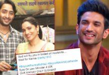 #BoycottPavitraRishta2 Trends As Netizens Say Sushant Singh Rajput Is Irreplaceable