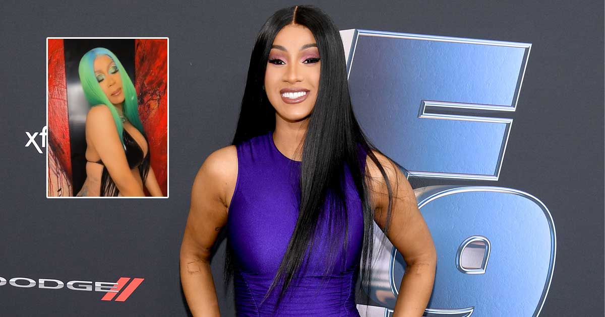 Cardi B Shares Steamy Video Of Her Rapping To 'Wild Side' While Showing Off Her Baby Bump In A Black Bikini