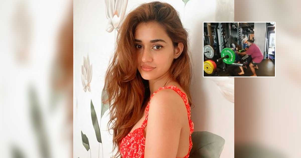 Disha Patani lifts heavy in the gym and this time it's an 80 kg barbell