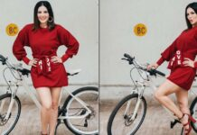 """For Sunny Leone """"cycling is the new glam"""""""