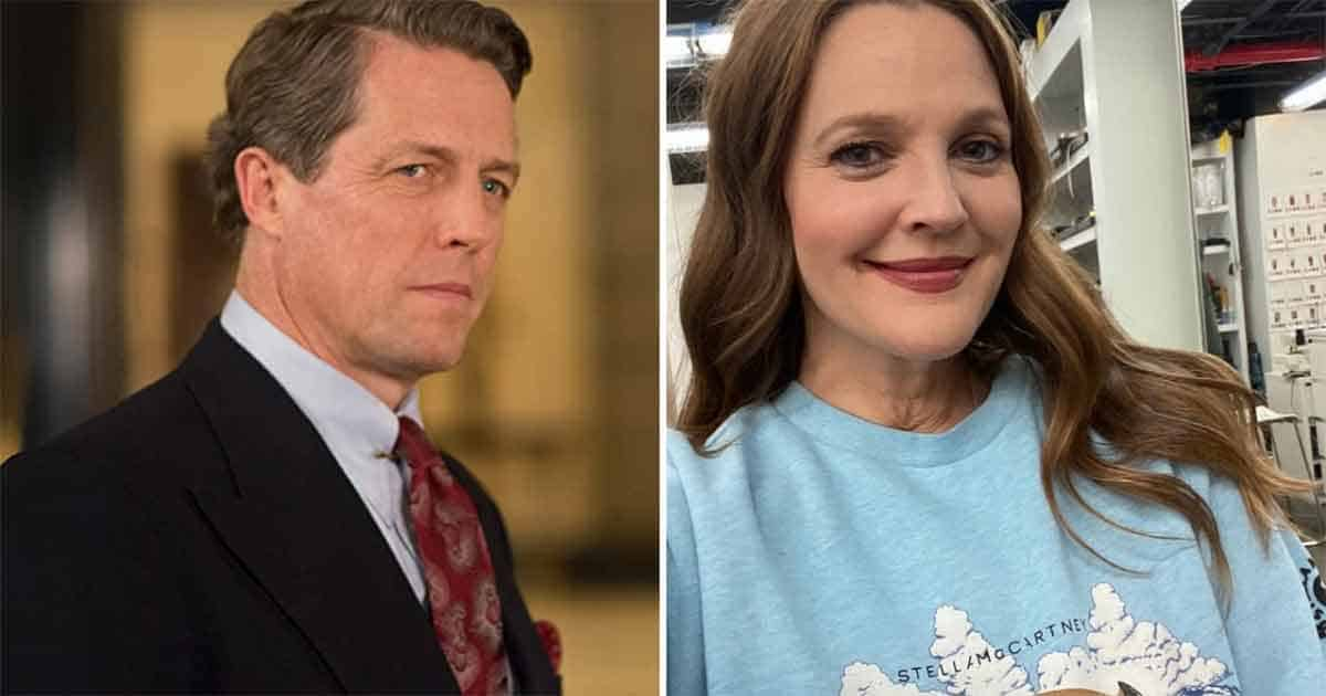 Hugh Grant, Drew Barrymore reminded us that he was drunk for 10 minutes and he seemed very hot!