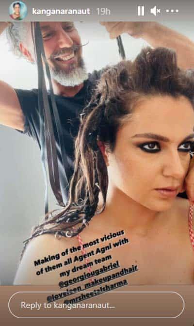 Kangana gives glimpse of her vicious 'Dhaakad' character