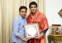 KTR praises Sonu Sood for social service activities