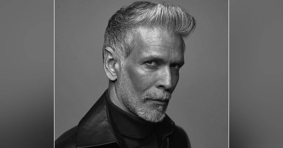 Milind Soman can't hold back while making a monochromatic look in the Salt & Pepper look