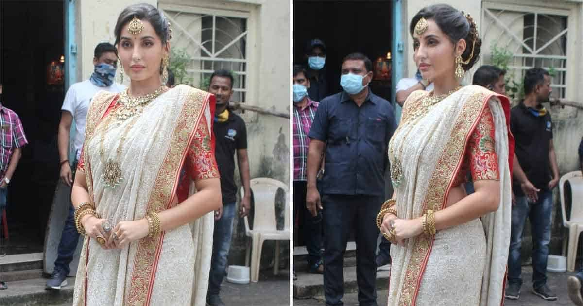 Nora Fatehi Pays An Ode To Her Idol Madhuri Dixit Nene By Recreating Dola Re Dola Look