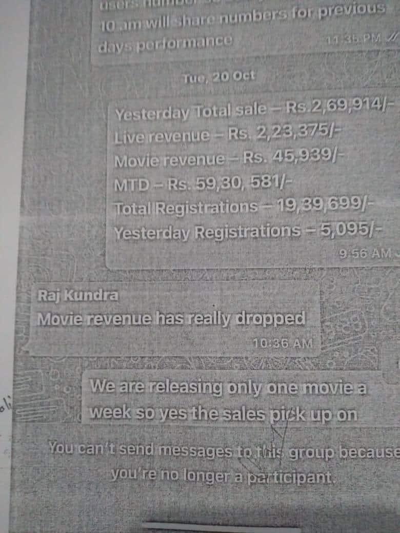 Raj Kundra and Pradeep Bakshi leaked WhatsApp chats reveal amount earned from P * rn movies
