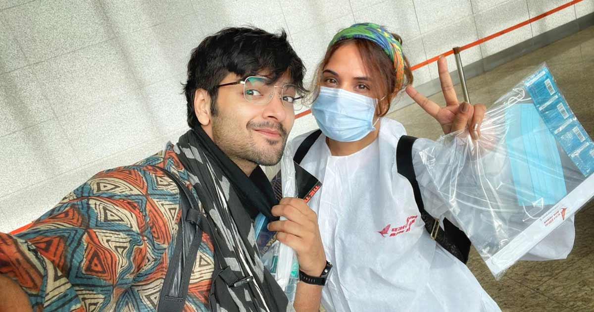Richa Chadha and Ali Fazal shoot a teaser for their maiden production - Girls Will be Girls in Dehradun