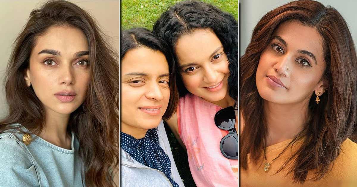 Taapsee Pannu Reacts To Kangana Ranaut's Sister Rangoli Wanting Aditi Rao Hydari In Haseen Dillruba