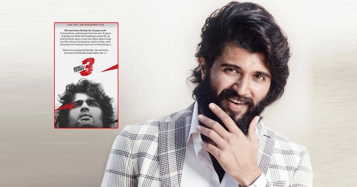 Vijay Deverakonda celebrates 3 years of his fashion brand Rowdy