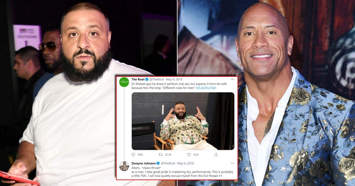 When Dwayne Johnson Took A Dig On DJ Khaled's Sexist Oral-S*x Tweet, Check Out