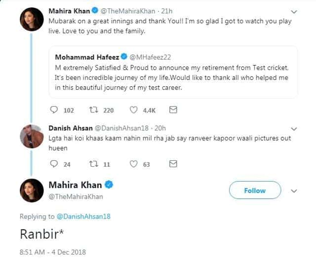 "When Mahira Khan Gave A Kick-As* Reply To Troll Who Said, ""Lagta Hai Koi Khaas Kaam Nahi Mil Raha"" After Her Smoking Pics With Ranbir Kapoor Got Viral"