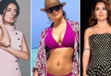 """When Salma Hayek Spoke On Her B**bs Growing In 'Many Many Sizes' & Said """"My Back Has Been Suffering..."""""""