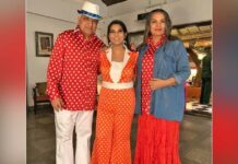 When Shabana Azmi and Javed Akhtar went twinning in red polka dots
