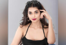 Actress Digangana Suryavanshi makes a style statement in a black slip dress, pictures inside