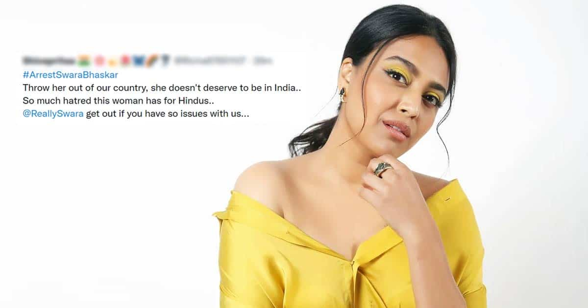 Arrest Swara Bhasker Is Trending As The Actress Compares Hindutva To Aghan Terror