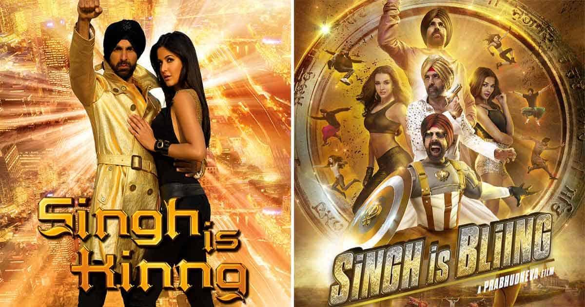 Akshay Kumar on the Singh Is Kingg & Singh Is Bling poster