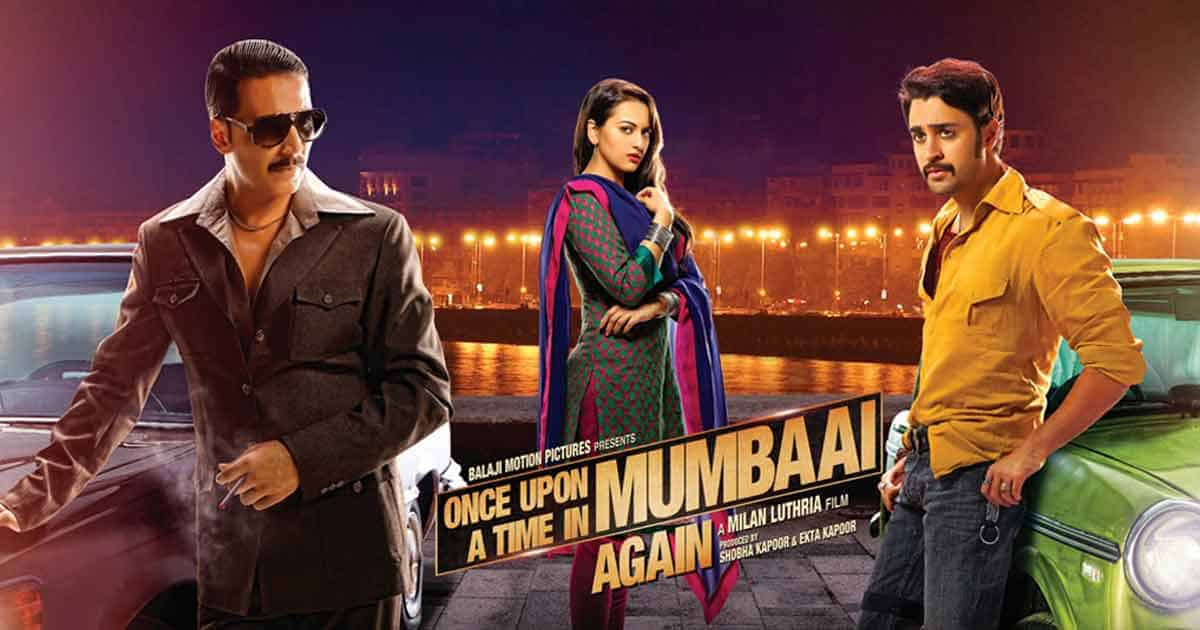 Akshay Kumar on the poster for Once Upon a Time in Mumbai Dobaara!
