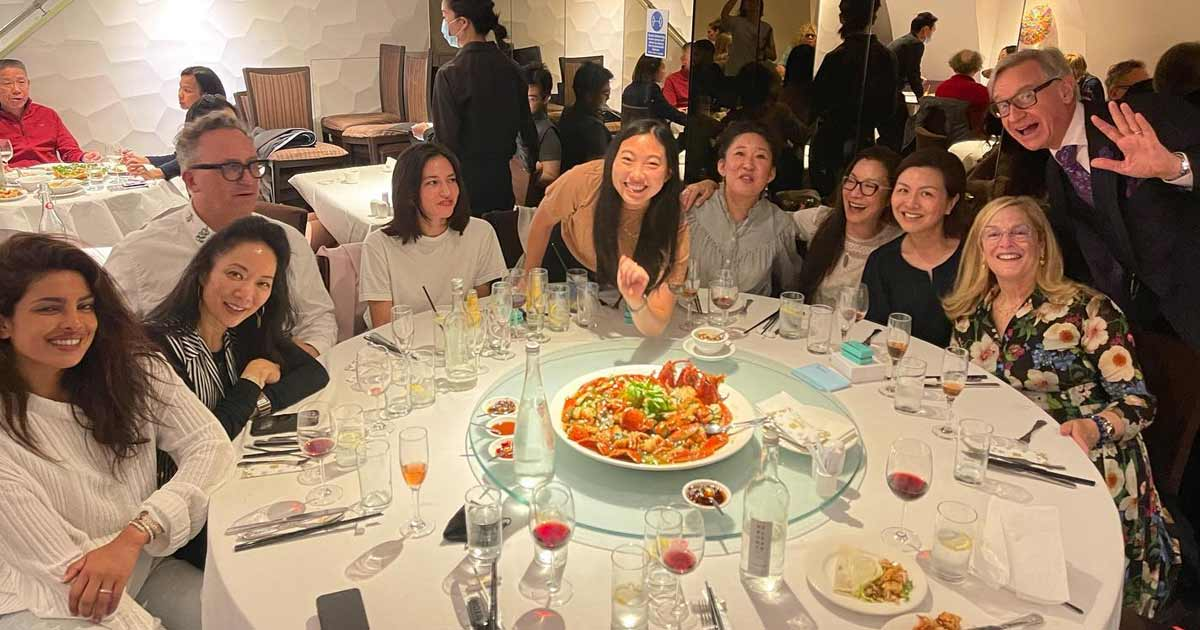 Likes in lakhs for Priyanka Chopra Jonas' dinner pix with Shang Chi Fame Michelle Yeoh