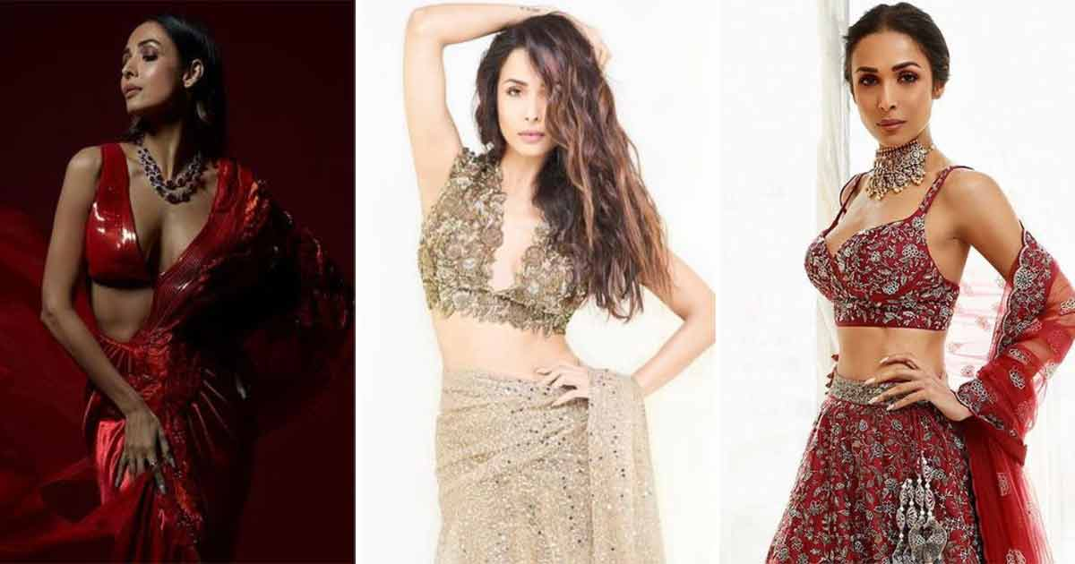 Malaika Arora Is A Vixen Even When She's Dressed In Sarees & Lehengas