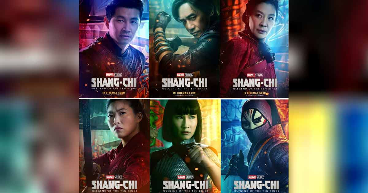 """MARVEL STUDIOS RELEASES NEW CHARACTER POSTERS FOR """"SHANG-CHI AND THE LEGEND OF THE TEN RINGS"""""""