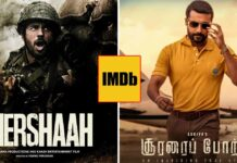 Shershaah, Soorarai Pottru Tops An IMDb List Having 8.9 & 9.1 Rating Respectively With Close To 1 Lakh Votes