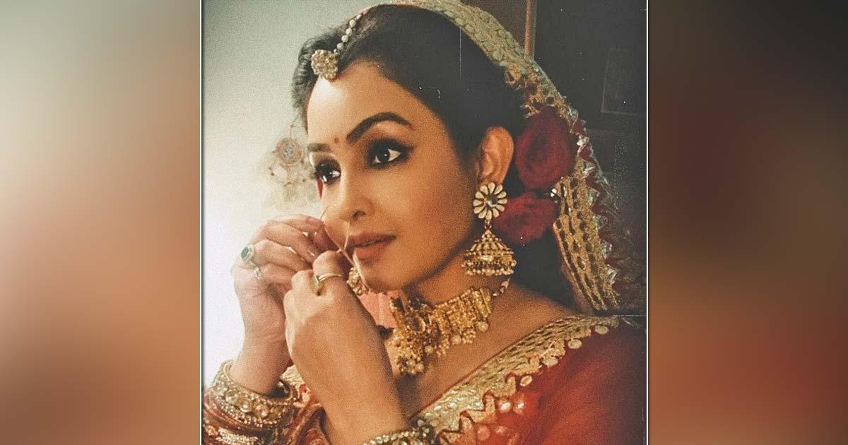 Shubhangi Atre enjoys bridal makeover during shooting