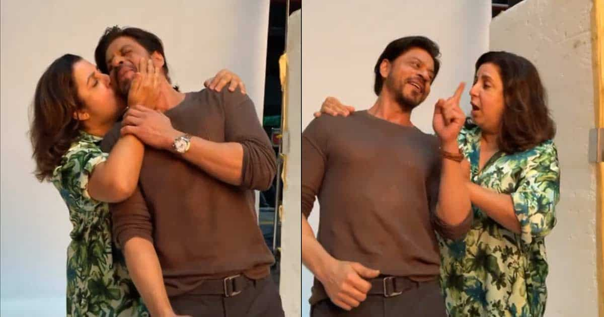 SRK, Farah Khan recreate 'Main Hoon Na' moment