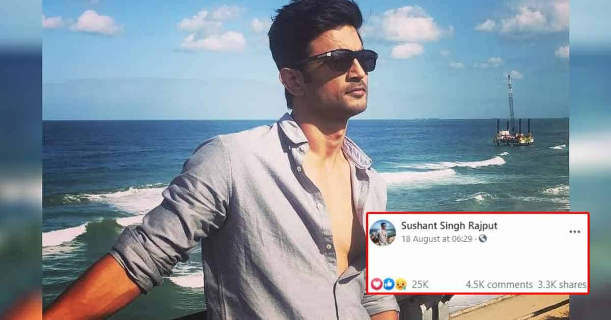 Fans Are Upset After Display Of Sushant Singh Rajput's Facebook Handle Is Changed!