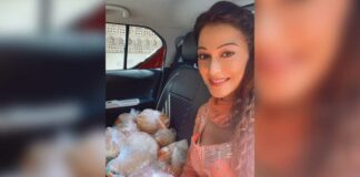 Actress Sunayana Fozdar urges her followers to donate food amongst the underprivileged