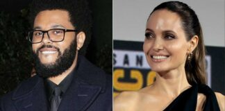 Angelina Jolie & The Weeknd Twin In Black As They Head Out For Dinner Together Sparking Dating Rumours Again