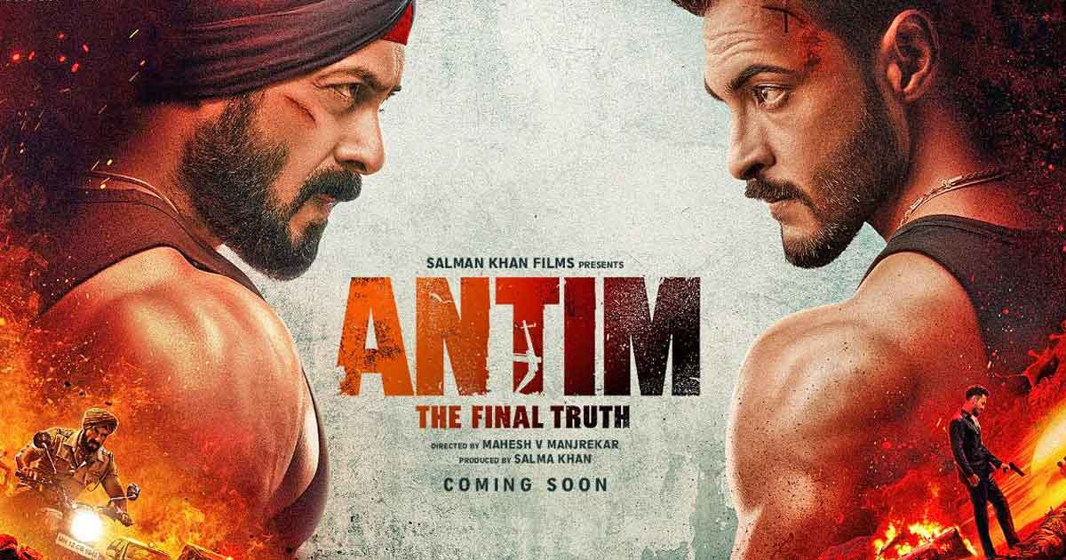 Antim: The Final Truth's poster reveals a clash of ideologies, a determined Salman khan faces off a menacing Aayush Sharma