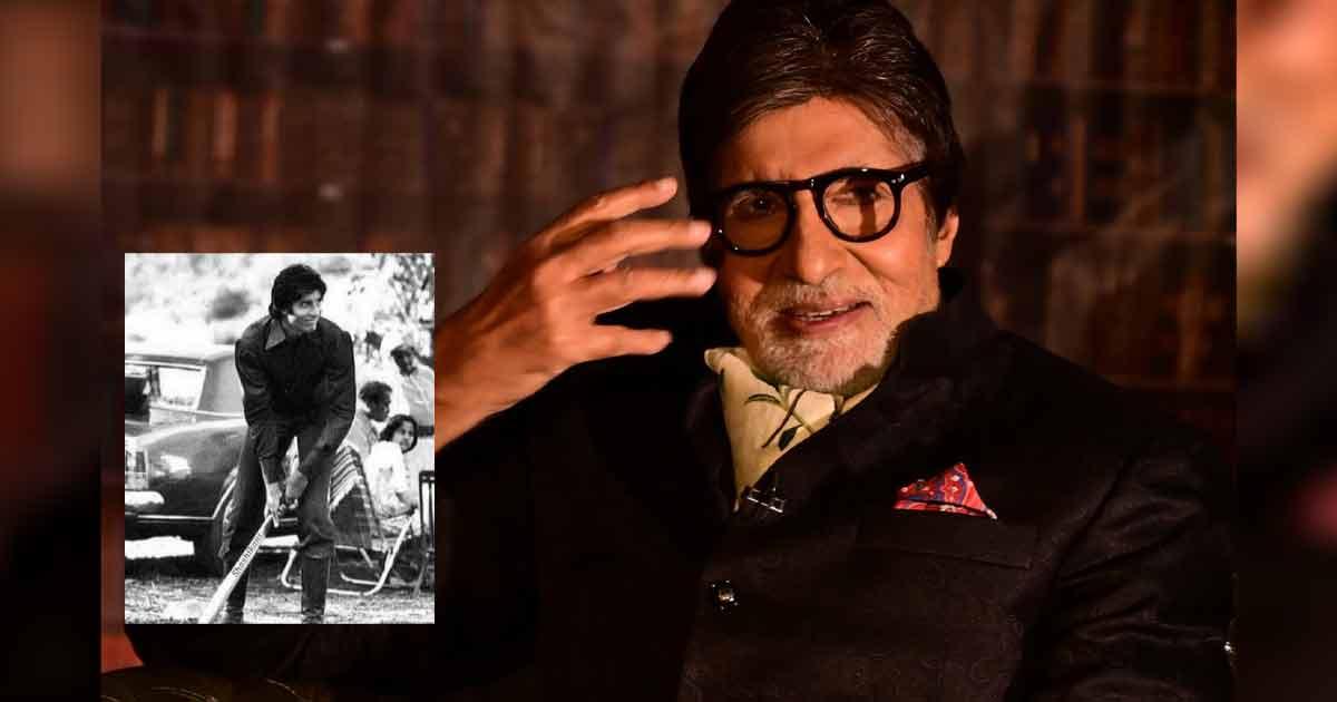 "Amitabh Bachchan Plays Cricket In A Throwback Picture From The Sets Of Mr. Natwarlal & Says ""Balla Zara Chota Pad Gaya"""