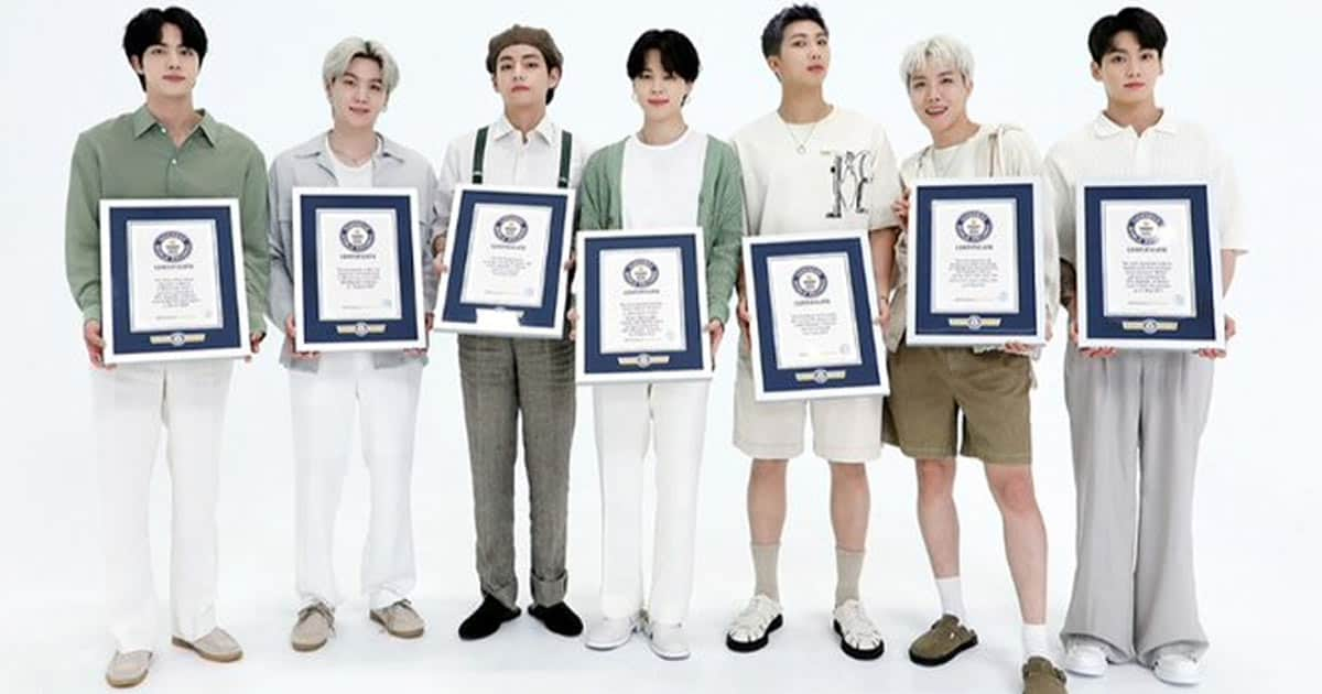 Bts Registers 23 Records In Guinness World Records 2022 Hall Of Fame