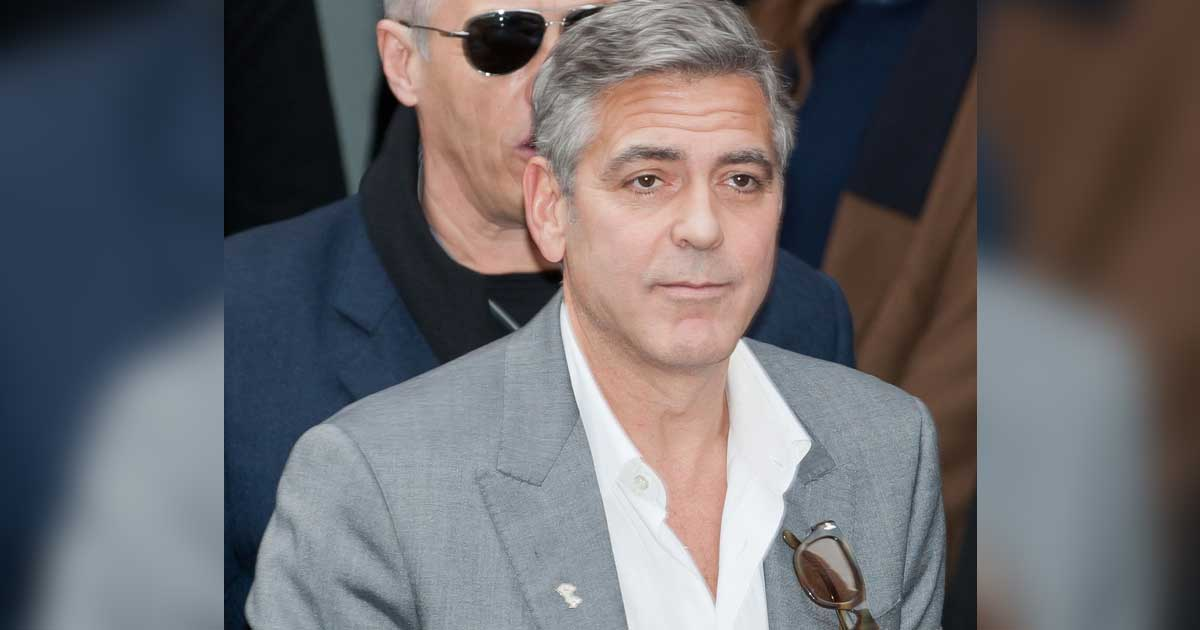George Clooney 'forced to hide' in closet