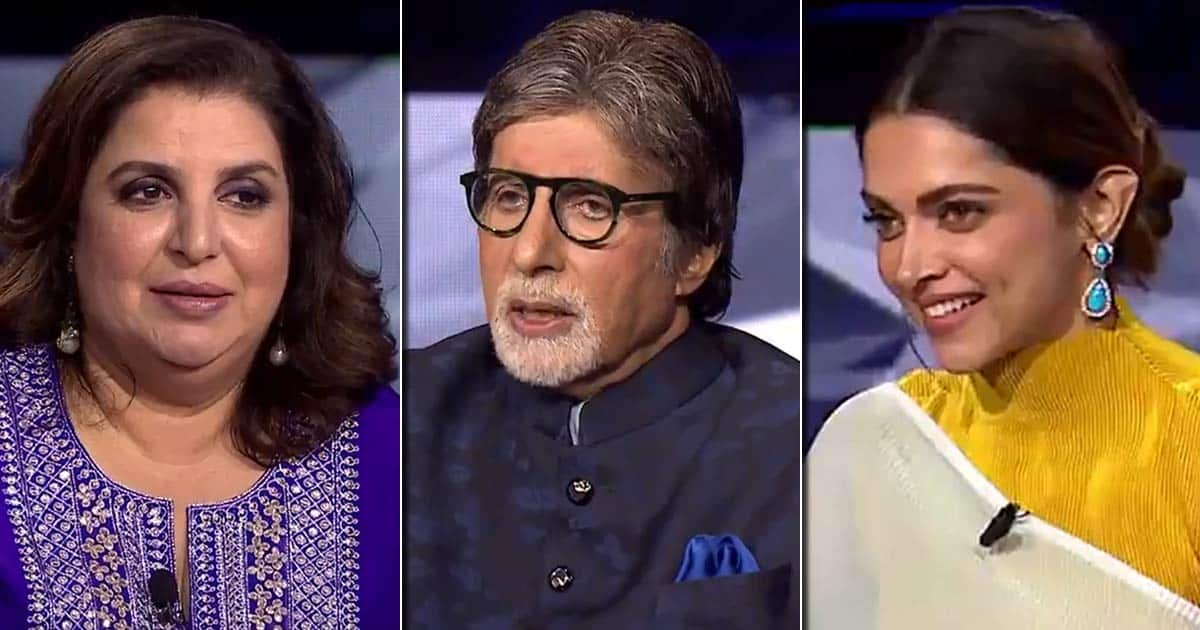 """KBC 13: KBC 13: Farah Khan Once Yelled At Amitabh Bachchan As She Said, """"Eh Get It Right! Who Do You Think You Are?"""" - Video Inside"""