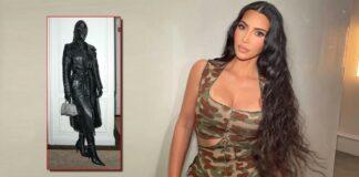 Kim Kardashian's black leather suit leaves fans in the dark