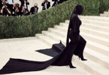 Kim Kardashian's Ponytail Extension From Her 2021 Met Gala Look Cost $10,000