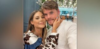 Louise Thompson, fiance Ryan Libbey expecting a baby boy