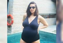 Neha Dhupia Flaunts Her Preggars Belly In A Black Monokini & Netizens Call Her 'Se*y Mamma' In Awe Of Her Maternity Fashion