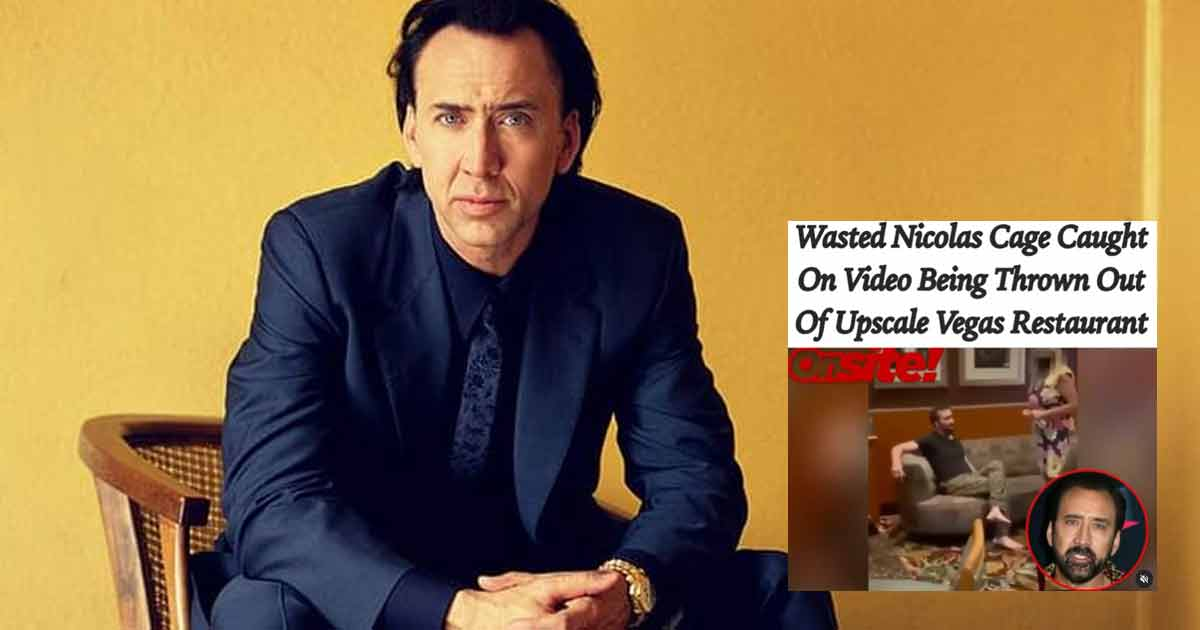 Drunk & Wasted Nicolas Cage Kicked Out Of A Las Vegas Bar, Was Initially Assumed To Be A Homeless Man