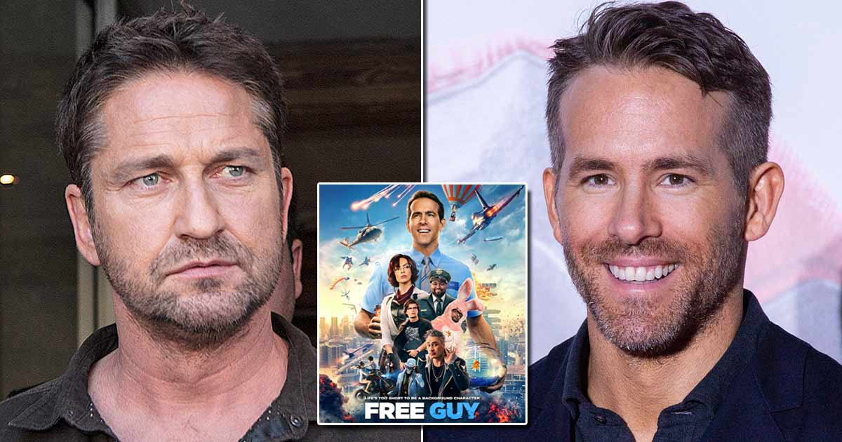 Ryan Reynolds Has A Witty Response To Gerald Butler's Comment Of Being Unaware Of 'Free Guy' & It Will Sting Him For A Long