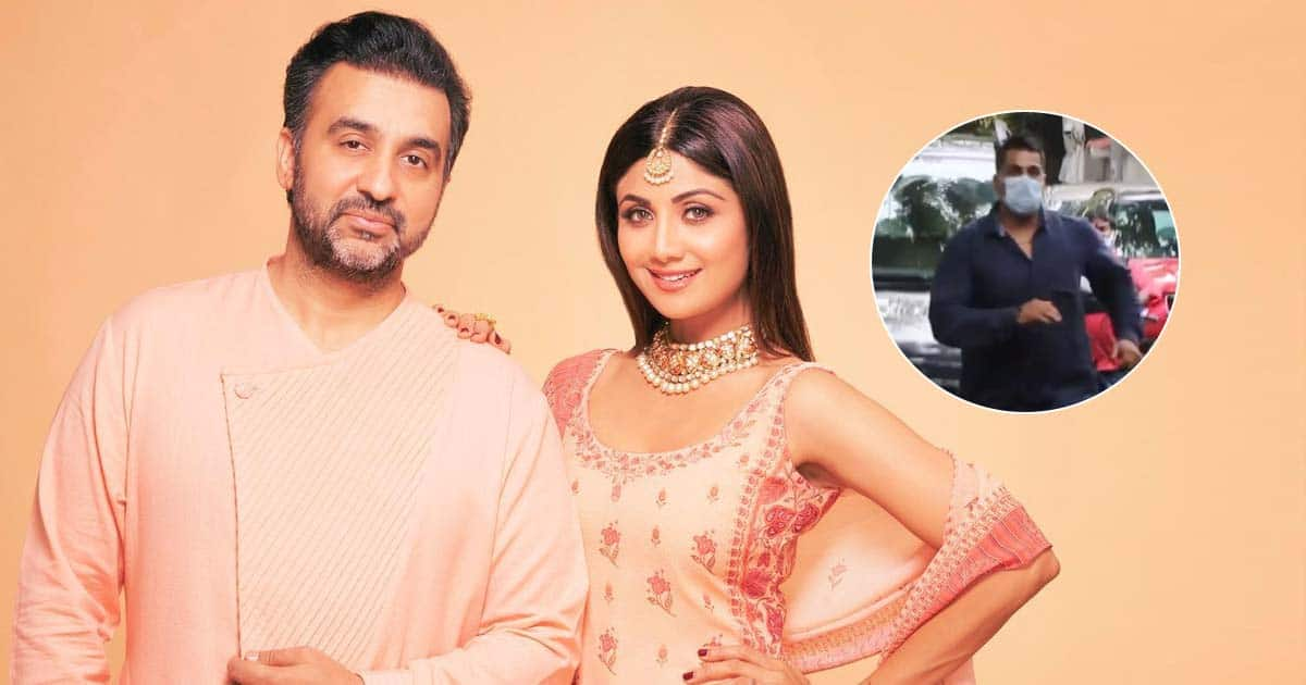 Shilpa Shetty's Bodyguard Runs In Front Of Raj Kundra's Car To Clear The Route, Netizens Salute His Loyalty