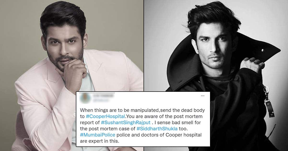 Sidharth Shukla Death Compared To Sushant Singh Rajput Case Due To Cooper Hospital