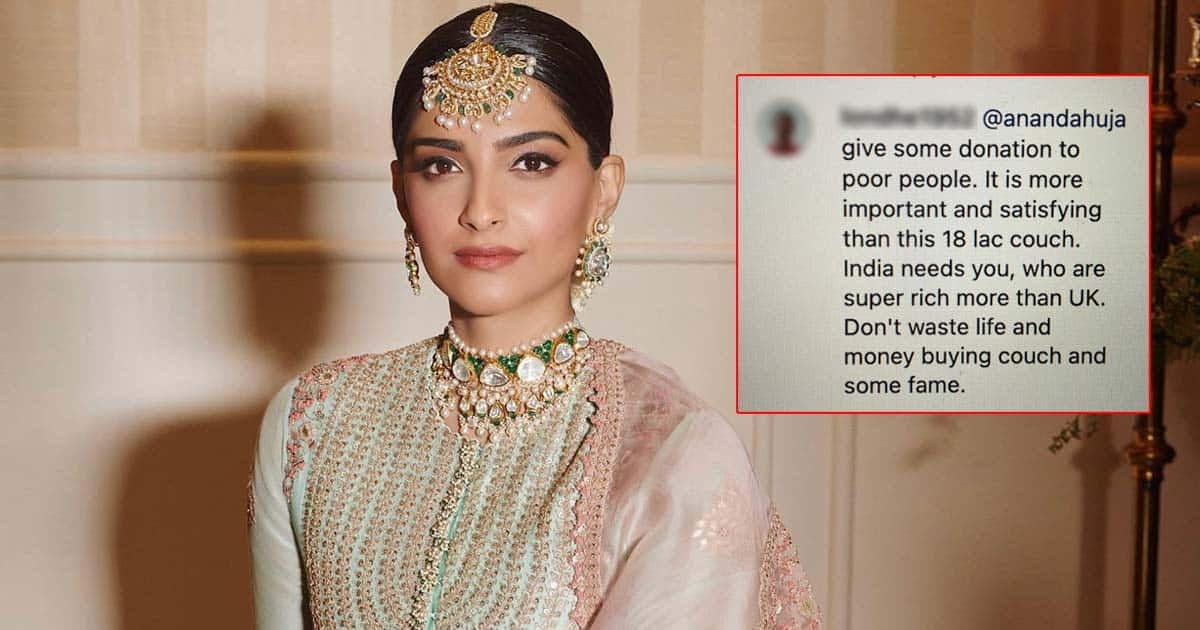 """Sonam Kapoor Poses On a Sofa Worth 18 Lakhs, A Netizen Writes, """"Don't Waste Life & Money Buying Couch & Some Fame,"""